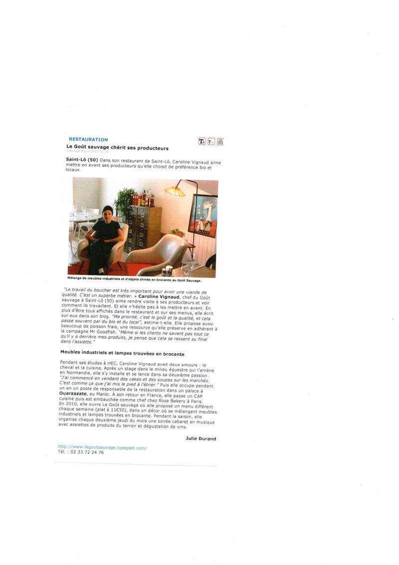 Article l'hotellerie restauration