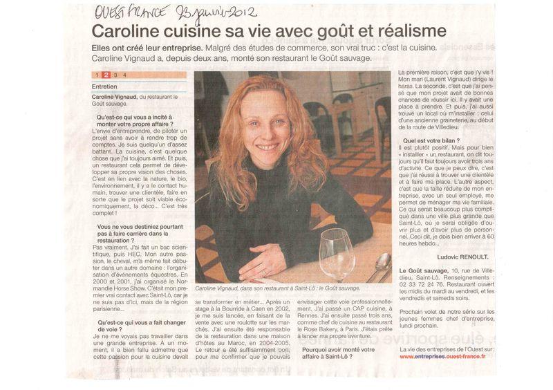 Ouest France janvier 2012 (2)