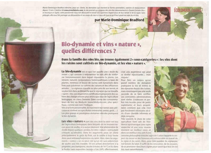 Article biodynamie