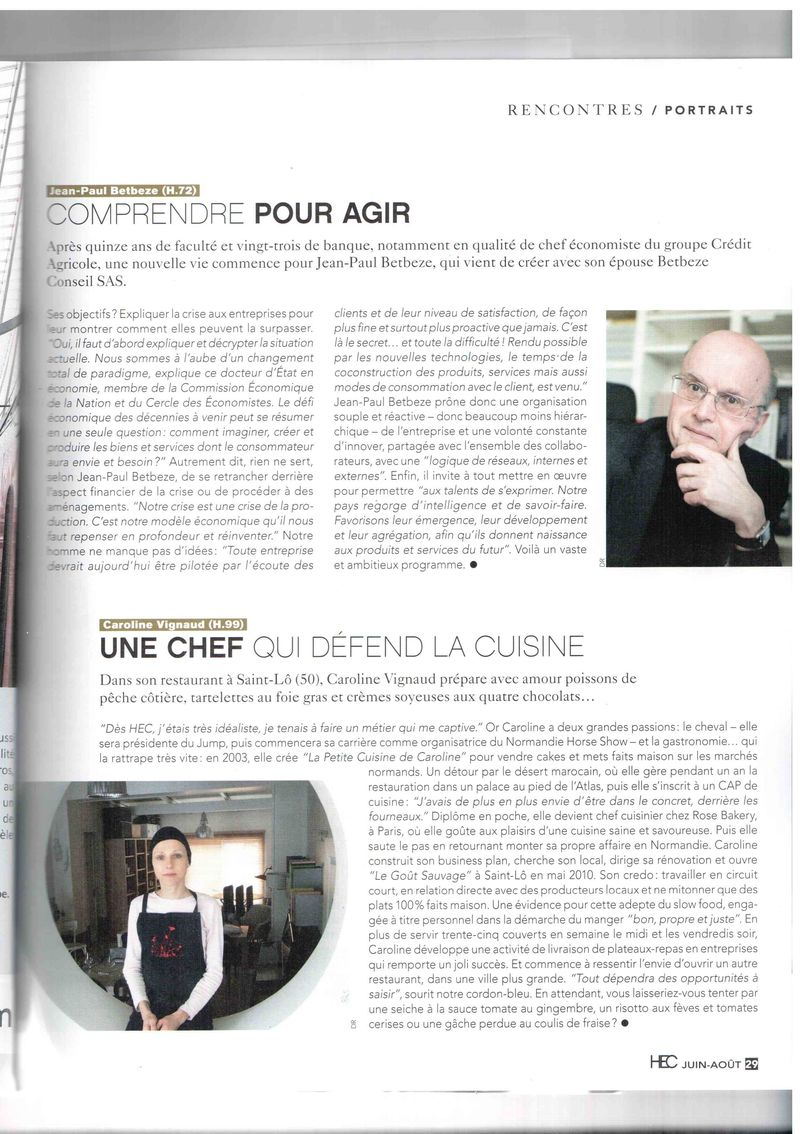 Article mag HEC 2013