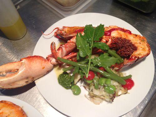 Demi-homard grillé